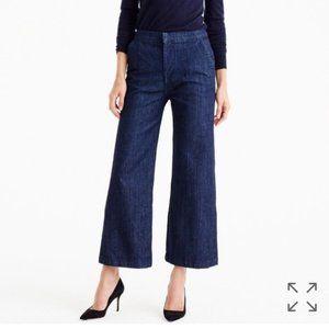 J Crew Rayner Wide Leg crop jeans dark wash 31